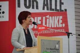 Susanne auf dem Landesparteitag